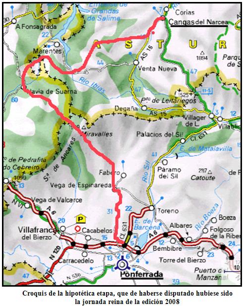 Mapa Cangas del Narcea - Ponferrada