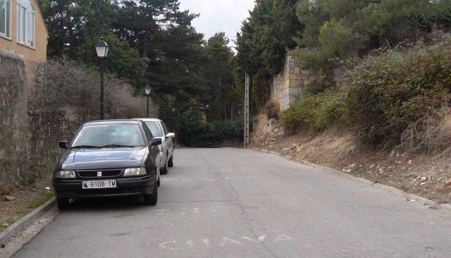 Calle Cerro de Abantos, inicio de la bajada