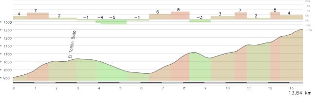 Entre Venta Luisa y Velefique se pasará el Alto de los Filabres: muy irregular pero con tramos duros.