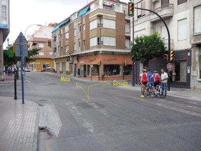 Foto nº1. Cruce Ronda de Santo Domingo y Pintor Agrasot. Kilómetro 0.