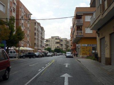 Foto nº12. Localización propuesta para la meta en calle Prolongación de Ronda de Santo Domingo.