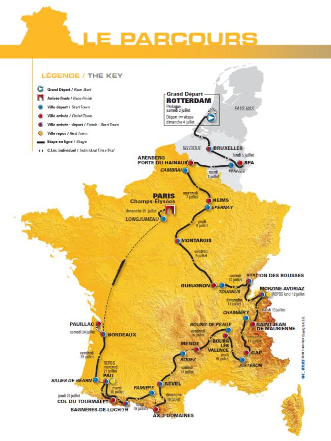 Mapa Tour 2010