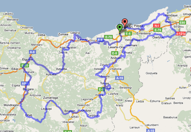Mapa San Sebastian Provincia.Clasica De San Sebastian Plataforma Recorridos Ciclistas