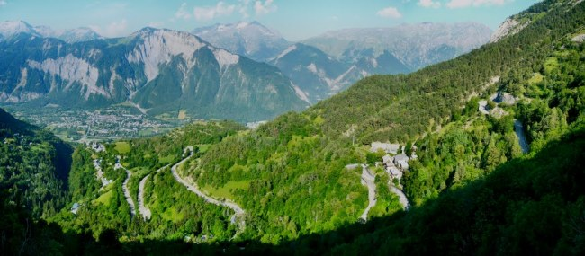 La vertiente sur de Alpe d´Huez. Fotografía de Rusnati.
