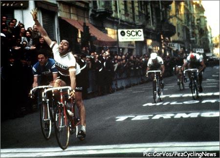 Milan San Remo 75, Merckx iguala a Girardengo en una primavera de clásicas canibalesca
