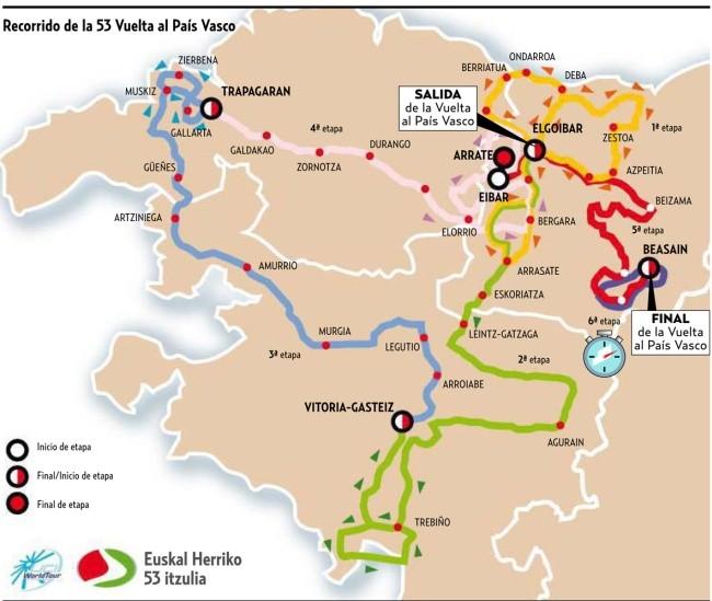 El plano general del recorrido. Imagen del diario Deia.