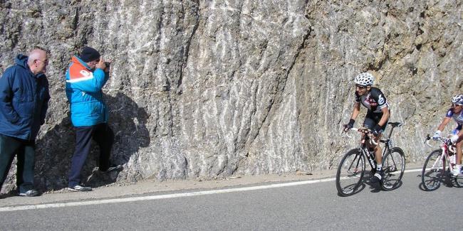 """Tondo y """"Purito"""" escapados ya en el Coll de Josa, a km de la meta en La Seu d'Urgell en la Volta 2010. Foto de blacksnickys.blogspot.com"""