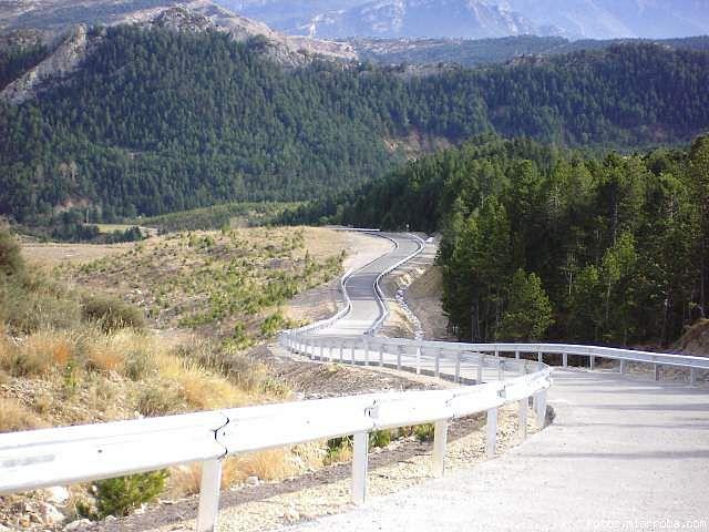 El tramo hormigonado de Pradell, 400m al 17%. Foto de bluesbiker.
