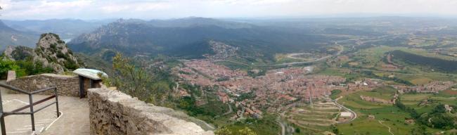 Berga vista desde el Santuari de Queralt. Foto del blog Orbis Tertius.