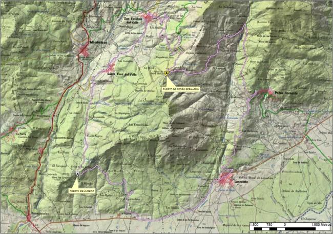 plano cicloturista san esteban del valle