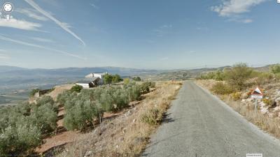 Vista atrás al superar el tramo más duro del Peñón de Murcia. Foto de Google Street View.
