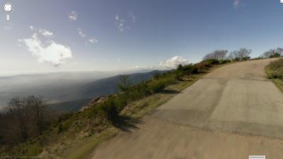 El tramo final del Turó, aparte de dureza, tienes unas grandes vistas. Foto de Street View.