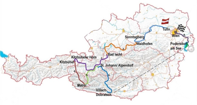 Mapa Austria 2014