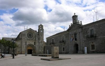 Plaza de Meira, final de la etapa. Foto de Galicia Ünica.