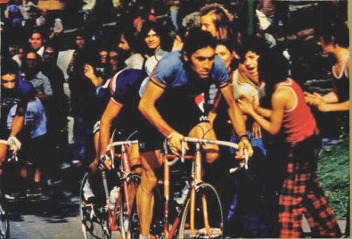 Eddy Merckx on Mount Royal Montreal Canada 1974 World Championship Road Race