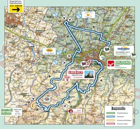 Mapa Giro Emilia 2015