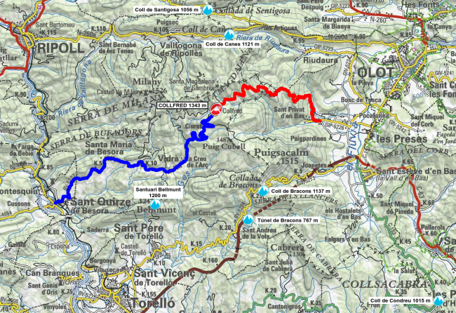Mapa Collfred