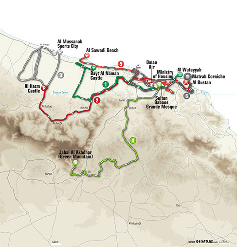 map route oman 2015