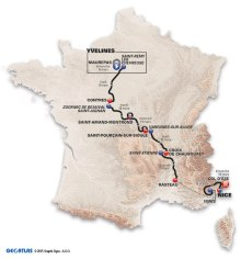 map route paris-nice 2015