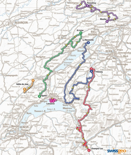 tour de romandie carte 2015
