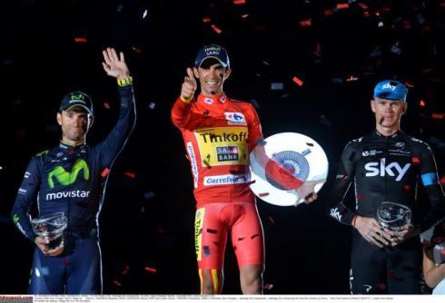 podio vuelta 2014