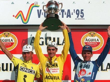 podio vuelta españa 1995