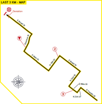 Road Race Map Last 3 km_Richmond 2015