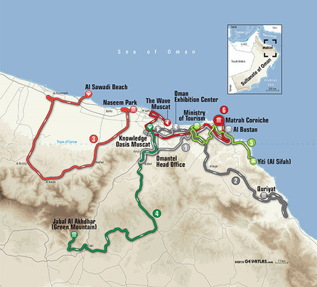 map route oman 2016