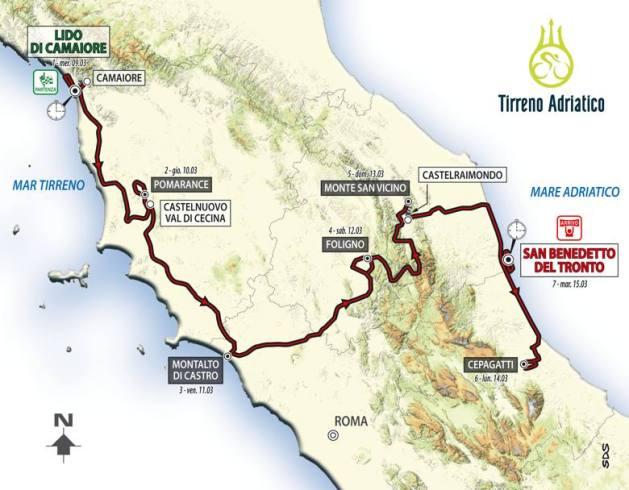 Tirreno Adriatico 2016 planimetria