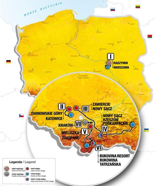 mapa tour polonia 2016