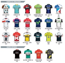 maillots equipos vuelta 2016