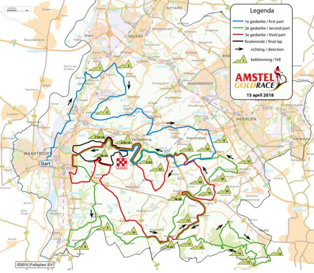mapa amstel gold race 2018